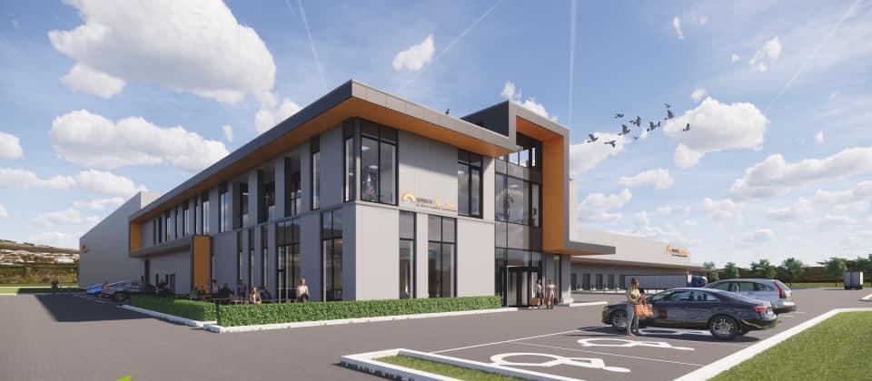 nieuw kantoorgebouw horeca van zon lommel gebouwd door De Voordenkers ontwerp HVC architecten