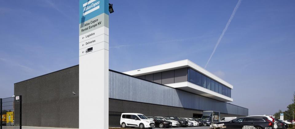 Mathieu Gijbels opening Atlas Copco Rental Europe gebouw Boom