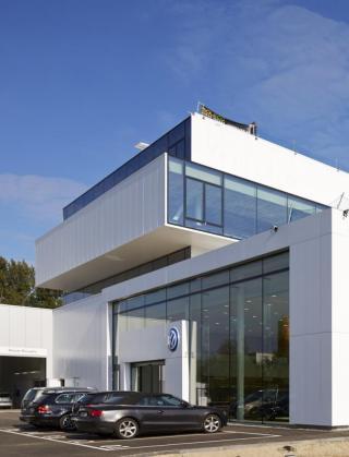 delorge business park hasselt volkswagen audi nieuwbouw garage bouwbedrijf mathieu gijbels limburg oudsbergen