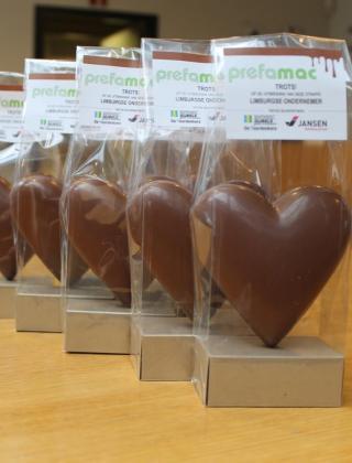 Chocoladen harten Prefamac Mathieu Gijbels