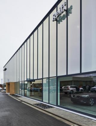 volvo reiff nieuwbouw garage herve bouwbedrijf Mathieu Gijbels