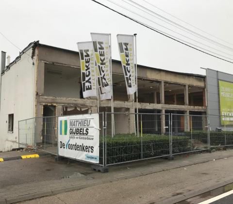 Interieurs Eycken renovatieproject TIJDENS afbraakwerken