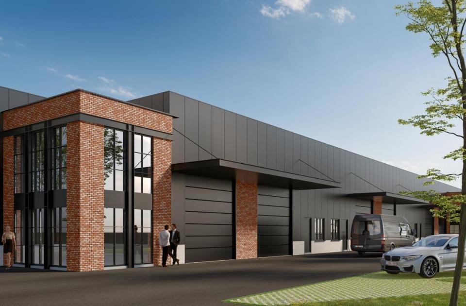Building Today, Timeless Woods, Hangar 29, essen, nieuwbouw, vastgoedproject, loods, units, industriebouw, mathieu gijbels