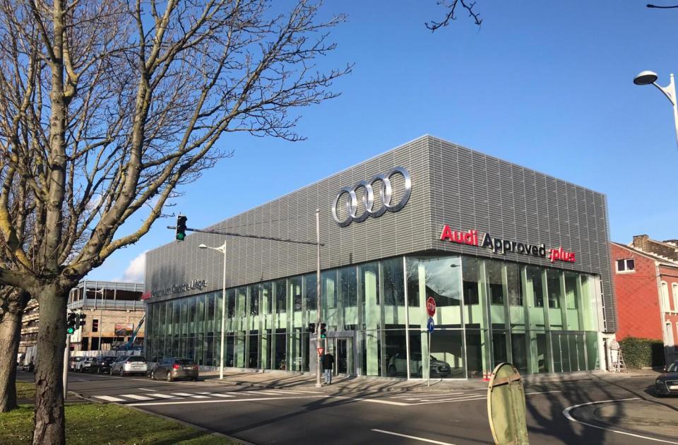 nieuwe audi premium centre in luik gebouwd door Mathieu Gijbels voor Emil Frey