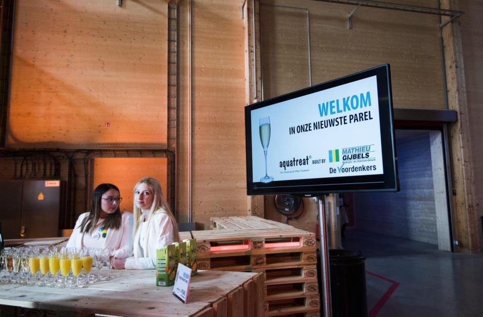 Aquatreat aarschot energiezuinig bouwen wonen bouwbedrijf mathieu gijbels limburg opening