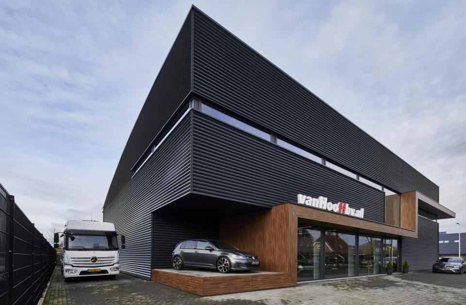 nieuwbouw garage van hooff elshout nederland mathieu gijbels bouwbedrijf