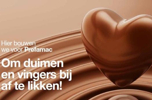 chocolade machines prefamac lummen uitbreiding gebouw nieuw bouwbedrijf mathieu gijbels limburg oudsbergen publiciteit reclame werd