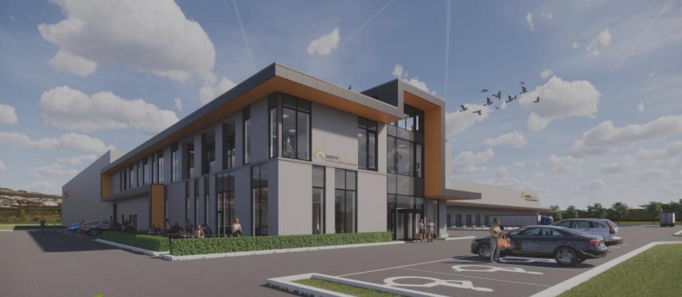 bouwbedrijf mathieu gijbels bouwt  nieuw hoofdkantoor horeca van zon lommel
