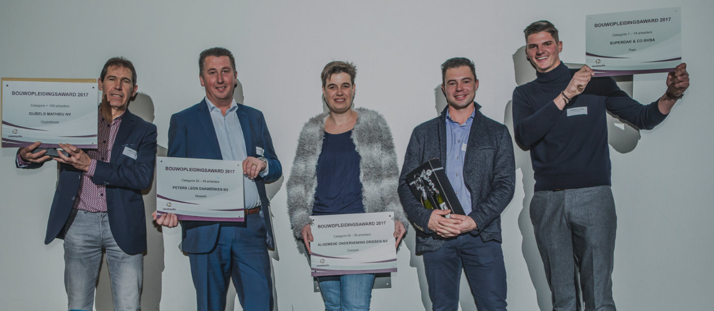 Mathieu Gijbels winnaar Constructiv Awards