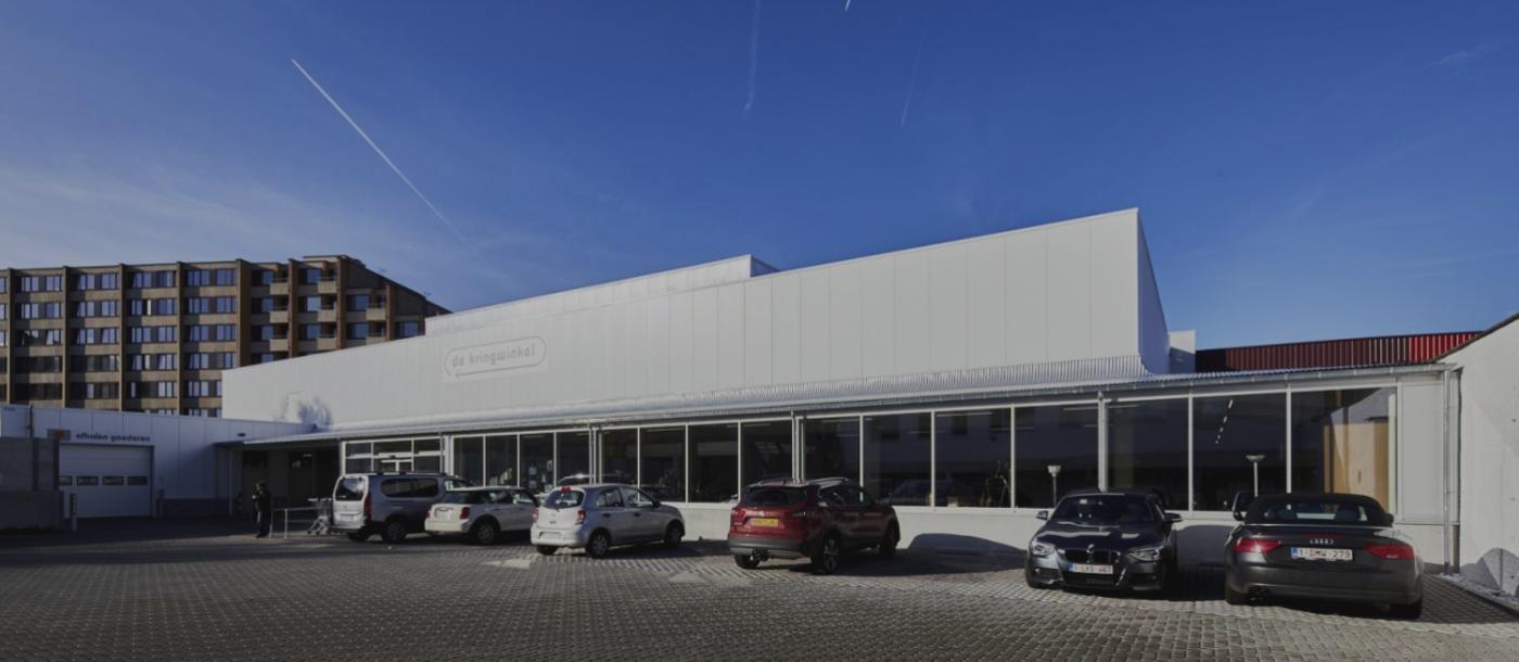 SPIT Heverlee Kringloopwinkel gebouwd door Mathieu Gijbels limburg