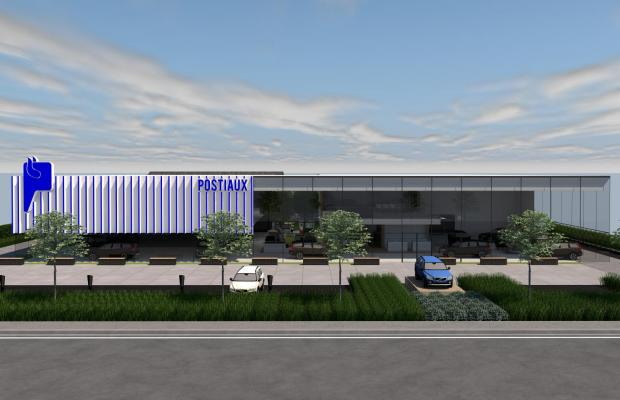 Volvo Postiaux bouwt state-of-the-art garage in Brecht