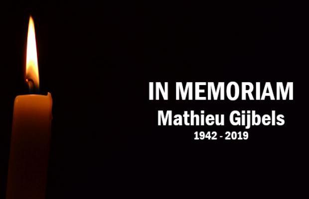 Stichter Mathieu Gijbels overleden