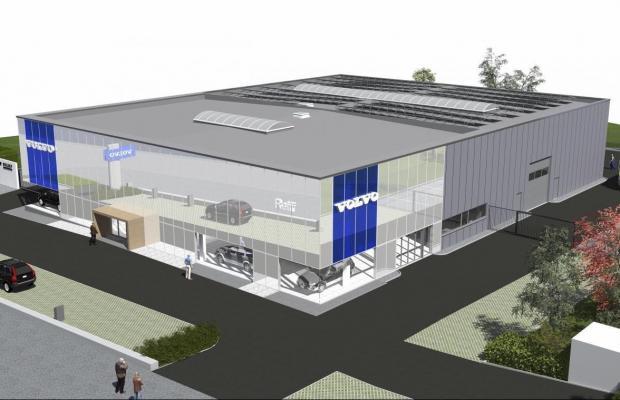 Volvo Reiff, Welkenraedt, Verviers, Chaineux, Herve, nouvelle construction, garage, Mathieu Gijbels, entreprise de construction, Limbourg