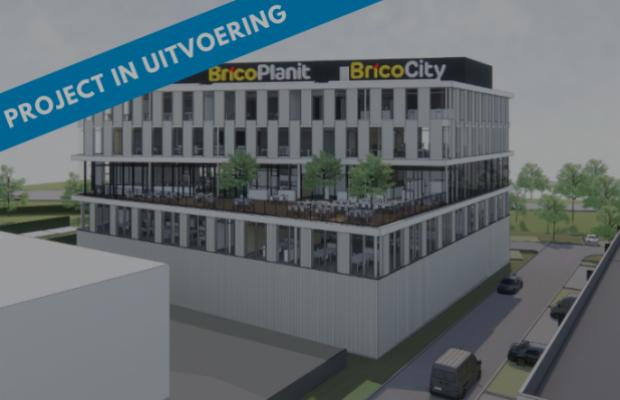 Futurn West Gate Brico, Nieuwbouw, bedrijvenpark, Groot-Bijgaarden, bedrijfsbouw, Mathieu Gijbels