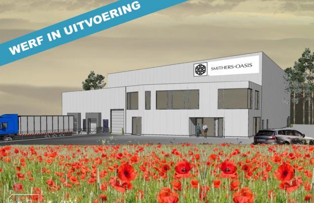 Op het Europark in Houthalen-Helchteren starten De Voordenkers eind oktober met de grondwerken voor het splinternieuwe gebouw van Smithers-Oasis